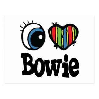 Carte Postale I coeur (amour) Bowie