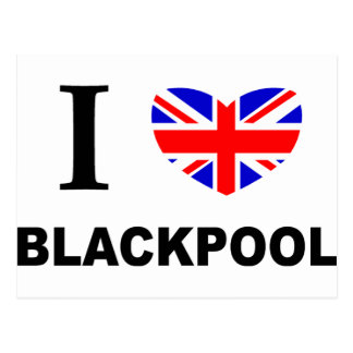 Carte Postale I coeur Blackpool
