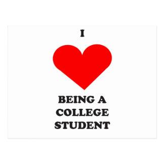Carte Postale I COEUR étant un étudiant universitaire !