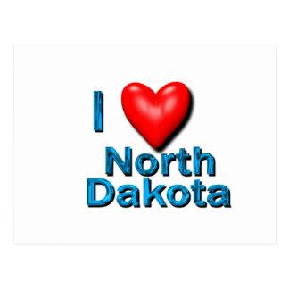 Carte Postale I coeur le Dakota du Nord