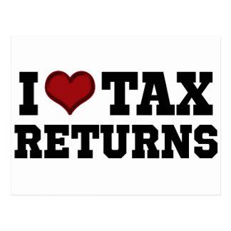 Carte Postale I déclarations d'impôt de coeur