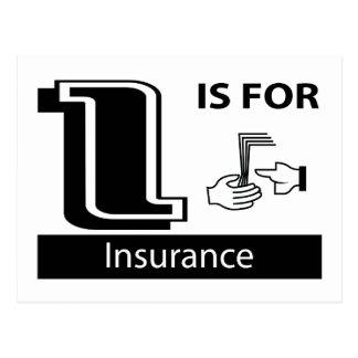 Carte Postale I est pour l'assurance