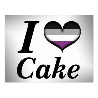 Carte Postale I gâteau asexuel de coeur
