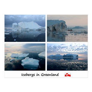 Carte Postale Icebergs au Groenland