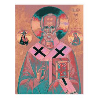 Carte Postale Icône de Nicholas de saint