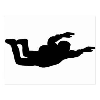 Carte Postale icône de parachutiste de parachutisme