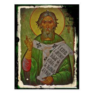 Carte Postale Icône de Patrick de saint sur le vert