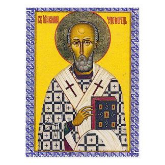 Carte Postale Icône de Saint-Nicolas