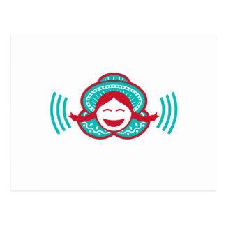 Carte Postale Icône de sourire de voix de fille péruvienne