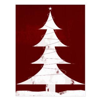 Carte Postale Icône de vacances - arbre de Noël vintage