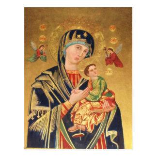 Carte Postale Icône orthodoxe russe - Vierge Marie et bébé Jésus