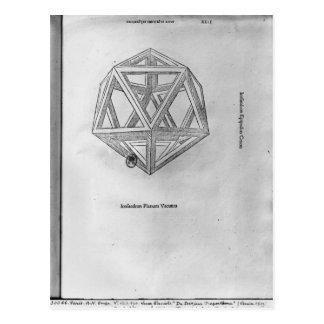 Carte Postale Icosahedron, de 'De Divina Proportione'