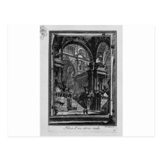 Carte Postale Idée de vrai-Hall par Giovanni Battista Piranesi