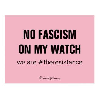 Carte Postale Ides d'atout aucun fascisme sur ma résistance de