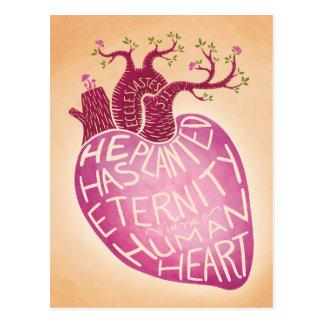 Carte Postale Il a planté l'éternité au coeur humain