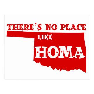Carte Postale Il n'y a aucun endroit comme Homa l'Oklahoma