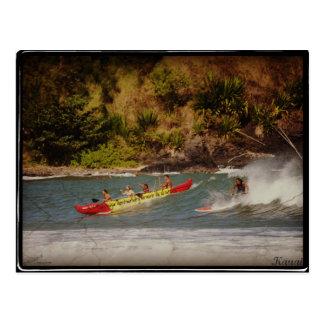 Carte Postale Il voyage avec 1 surfer x Kauai