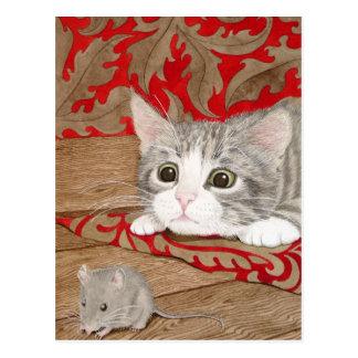 Carte Postale Il y a une souris dans la maison !