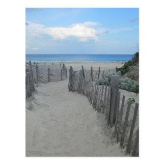 Carte Postale Île de Block de dunes de sable