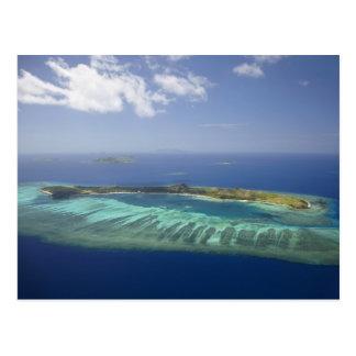 Carte Postale Île de Mana et récif coralien, îles de Mamanuca