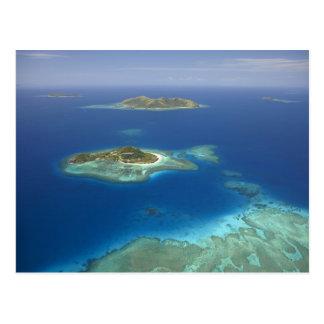 Carte Postale Île de Matamanoa et récif coralien, île de