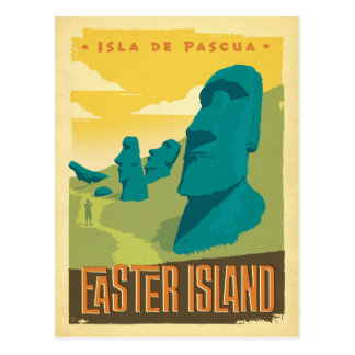 Carte Postale Île de Pâques, Chili