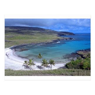Carte Postale Île de Pâques de plage d'Anakena