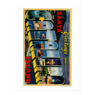 Carte Postale Île de Père Noël Catalina, la Californie