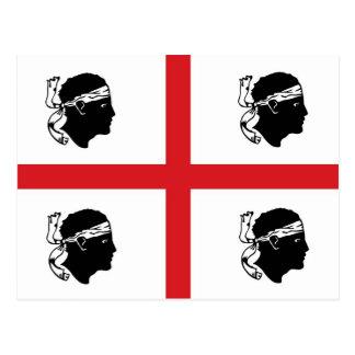 Carte Postale île de région de l'Italie de drapeau de la