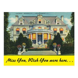 Carte Postale Île de Rhode, Chetwood, Newport