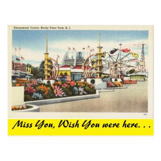 Carte Postale Île de Rhode, parc rocheux de point