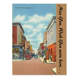 Carte Postale Île de Rhode, rue de la Tamise, Newport