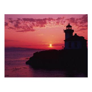 Carte Postale Île de San Juan, phare de four à chaux