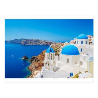 Carte Postale Île de Santorini - caldeira, Grèce