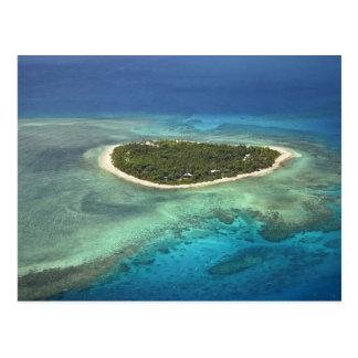 Carte Postale Île de Tavarua et récif coralien, îles de Mamanuca