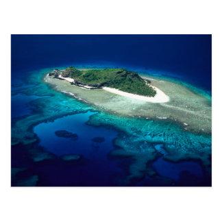 Carte Postale Île d'Eori, îles de Mamanuca, Fidji - antenne