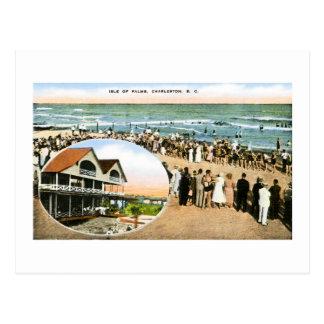Carte Postale Île des paumes, Charleston, la Caroline du Sud