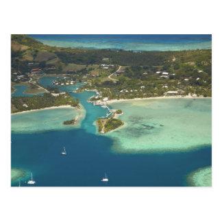 Carte Postale Île-hôtel de crique de mousquet, île de Malolo