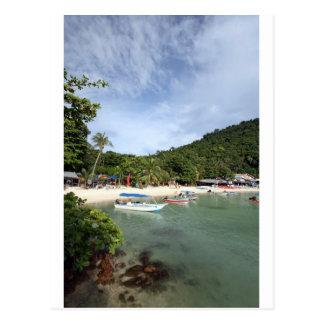 Carte Postale Île tropicale de Perhentian de plage de paradis