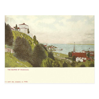 Carte Postale Île vintage Michigan de Mackinac