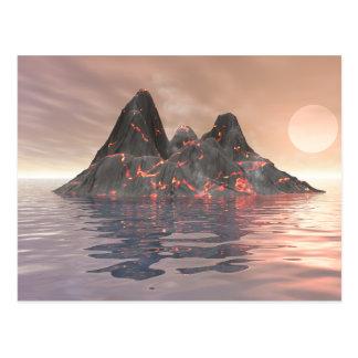 Carte Postale Île volcanique