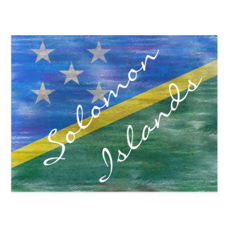 Carte Postale Îles Salomon ont affligé le drapeau