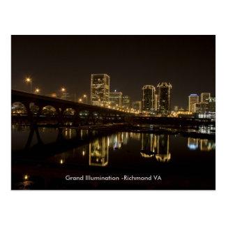 Carte Postale Illumination grande de Richmond.