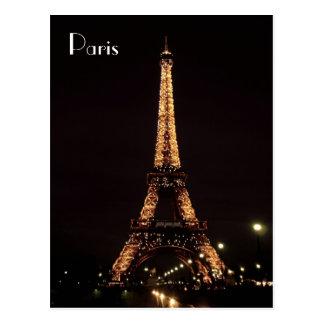 Carte Postale Illuminations de Paris : Tour Eiffel