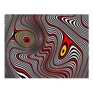 Carte Postale Illusion optique d'aura de migraine