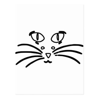 Carte Postale Illusion optique de chat ou de souris