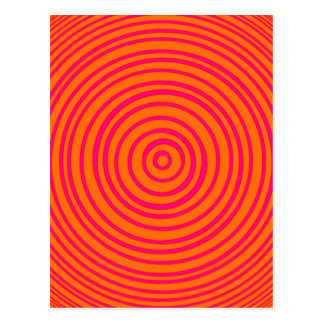 Carte Postale Illusion optique orange rose d'Oddisphere