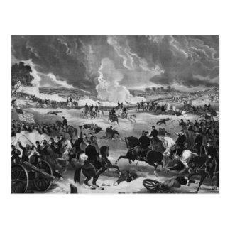 Carte Postale Illustration de la bataille de Gettysburg