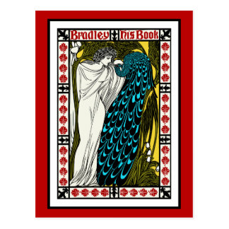 Carte postale : Illustration de paon de Nouveau