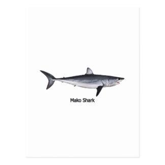 Carte Postale Illustration de requin de Mako de Shortfin